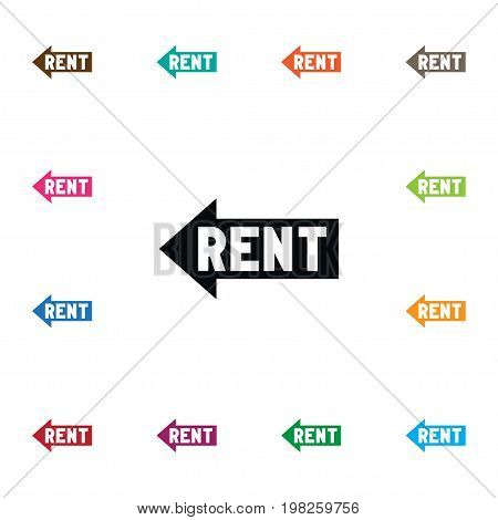 Lease Information Vector Element Can Be Used For Rent, Lease, Information Design Concept.  Isolated Rent Sign Icon.