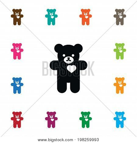 Bear Vector Element Can Be Used For Plush, Cuddly, Stuffed Design Concept.  Isolated Cuddly Icon.