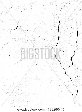 Concrete wall with cracks. Grunge monochrome background. Abstract texture background, dirt overlay or screen effect use for grunge background vintage style.