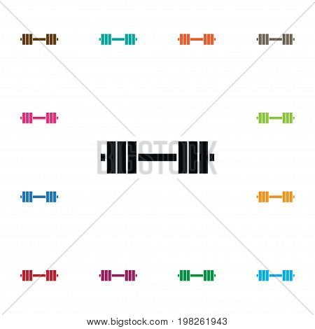 Dumbbell Vector Element Can Be Used For Dumbbell, Weightlifting, Muscle Design Concept.  Isolated Muscle Icon.