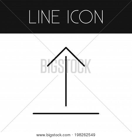 Upload Vector Element Can Be Used For Upload, Arrow, Up Design Concept.  Isolated Arrow Up Outline.