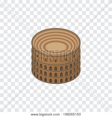 Coliseum Vector Element Can Be Used For Colosseum, Rome, Coliseum Design Concept.  Isolated Colosseum Isometric.