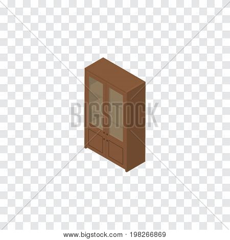 Cabinet Vector Element Can Be Used For Cabinet, Cupboard, Locker Design Concept.  Isolated Cupboard Isometric.