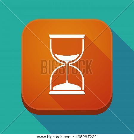 Long Shadow App Button With A Sand Clock