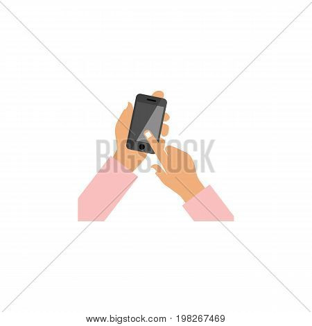 Interactive Display Vector Element Can Be Used For Touchscreen, Interactive, Display Design Concept.  Isolated Touchscreen Flat Icon.