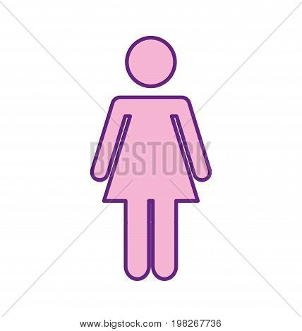 female gender silhouette isolated icon vector illustration design