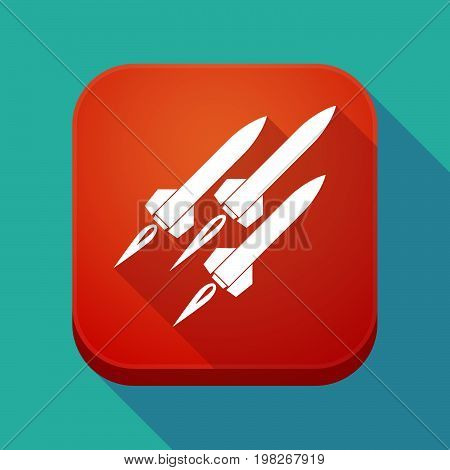 Long Shadow App Button With Missiles