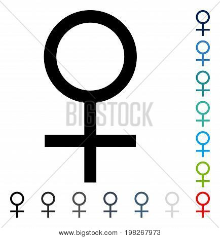 Venus Female Symbol icon. Vector illustration style is a flat iconic symbol in some color versions.
