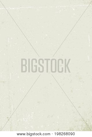 Blank aged paper background, vertical. A4 format, grunge textures in layers and can be edited.