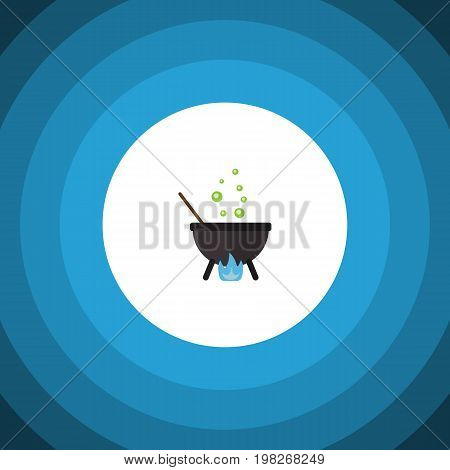 Magic Vector Element Can Be Used For Magic, Cauldron, Boiling Design Concept.  Isolated Cauldron Flat Icon.