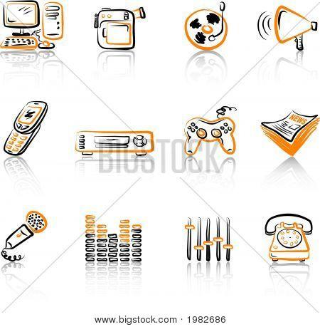 Media 3 Black & Orange.Eps