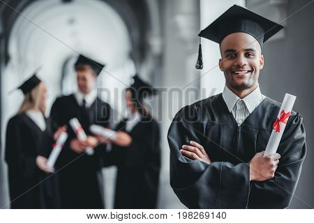 Male Graduate In University