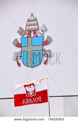 polish flag and john paul II symbology