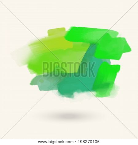 Vector color brush strokes. Acrylic isolated elements. Abstract colour brushes for your design. Freehand. Ink splash. Acrylic stamp. Vector illustration