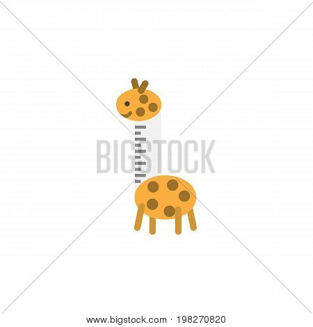 Toy Vector Element Can Be Used For Giraffe, Toy, Baby Design Concept.  Isolated Giraffe Flat Icon.