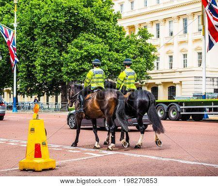 Police On Horseback In London (hdr)