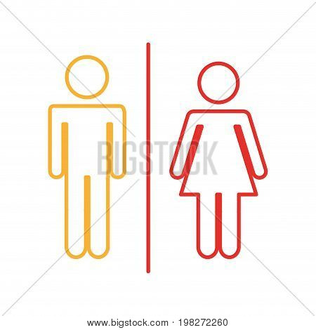 couple gender silhouette isolated icon vector illustration design
