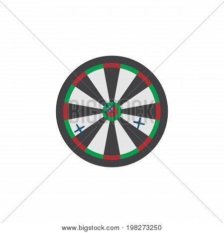 Arrow Vector Element Can Be Used For Arrow, Darts, Game Design Concept.  Isolated Darts Flat Icon.