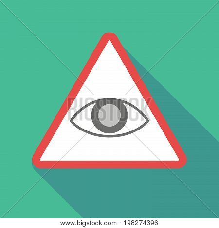 Long Shadow Warning Signal With An Eye