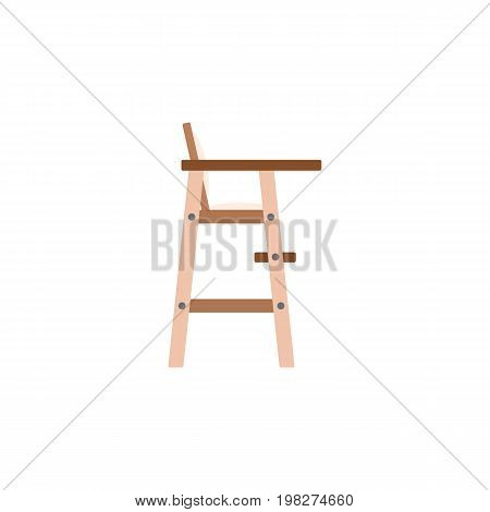 Child Chair Vector Element Can Be Used For Stool, Child, Chair Design Concept.  Isolated Stool Flat Icon.