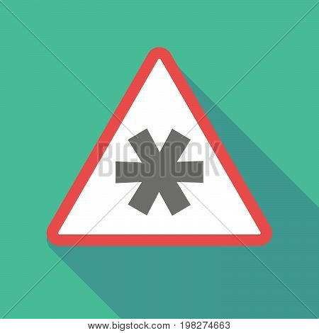 Long Shadow Warning Signal With An Asterisk