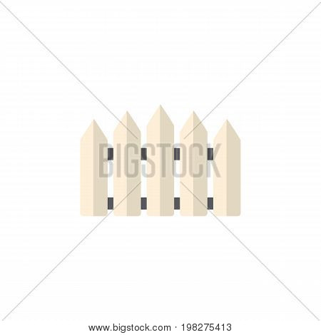 Wooden Barrier Vector Element Can Be Used For Fence, Wooden, Barrier Design Concept.  Isolated Fence Flat Icon.
