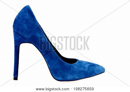 Female Formal Suede Footwear, Side View