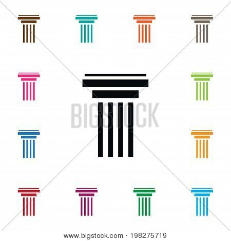Marble Vector Element Can Be Used For Column, History, Marble Design Concept.  Isolated Column Icon.