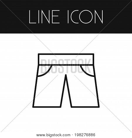 Trunks Cloth Vector Element Can Be Used For Shorts, Trunks, Cloth Design Concept.  Isolated Shorts Outline.