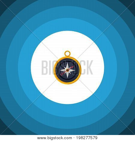 Divider Vector Element Can Be Used For Compass, Divider, Navigation Design Concept.  Isolated Compass Flat Icon.