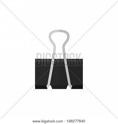 Paper Clip Vector Element Can Be Used For Pushpin, Paper, Clip Design Concept.  Isolated Pushpin Flat Icon.