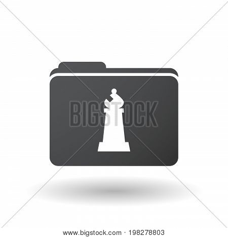 Isolated Folder With A Bishop    Chess Figure