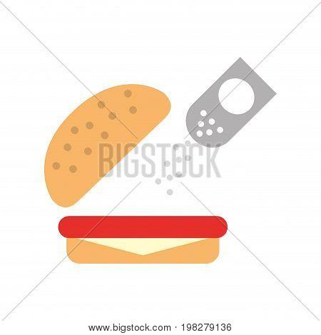 delicious burger with salt vector illustration design