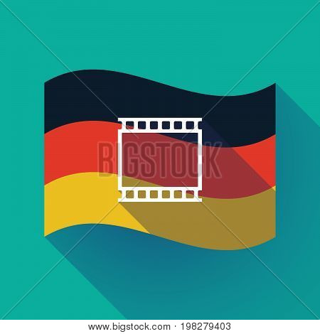 Long Shadow Germany Flag With   A Photographic 35Mm Film Strip
