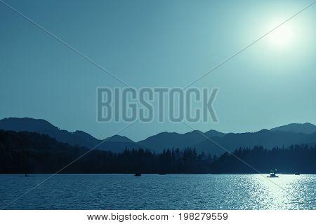 Coastal Landscape Of West Lake. Hangzhou, China