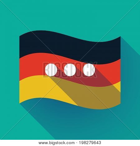Long Shadow Germany Flag With  An Ellipsis Orthographic Sign