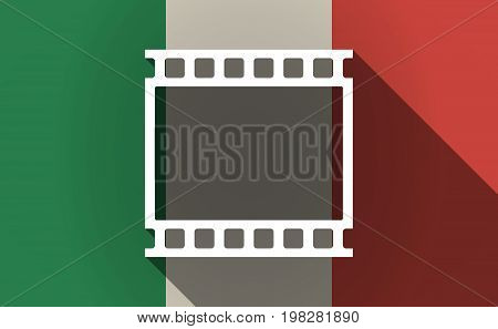 Long Shadow Italy Flag With   A Photographic 35Mm Film Strip