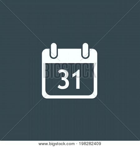 Calendar with date 31. Calendar icon isolated on background. Vector stock.