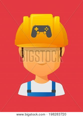 Worker Avatar With  A Game Pad