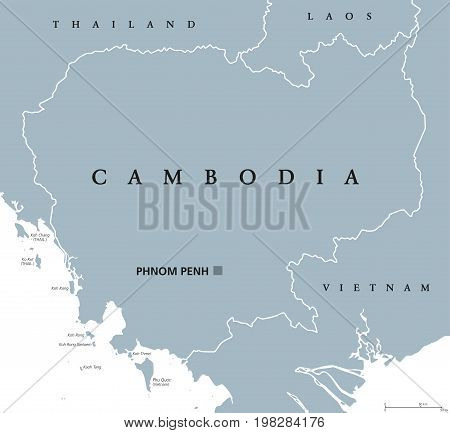Cambodia Political Map Capital Vector Photo Bigstock
