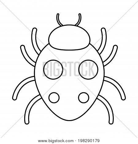 bug sign icon virus symbol software bug error disinfection vector illustration