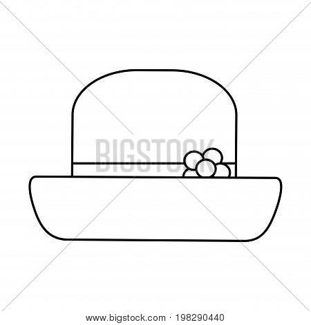 vintage hat male head old fashion clothes elegant vector illustration
