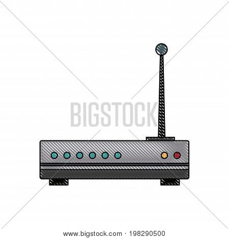 wireless network router switch modern digital broadband internet communication vector illustration