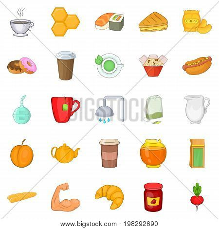 Mead icons set. Cartoon set of 25 mead vector icons for web isolated on white background