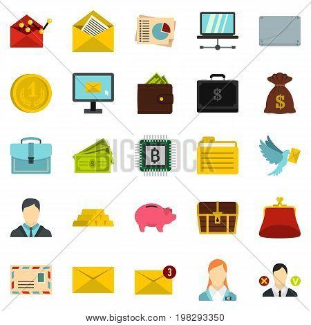 Deposit icons set. Cartoon set of 25 deposit vector icons for web isolated on white background