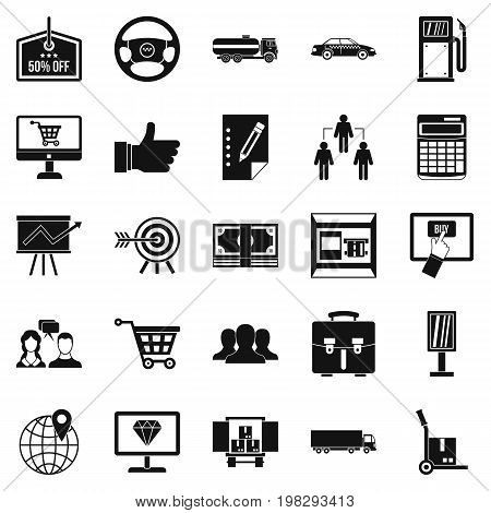 Waste of money icons set. Simple set of 25 waste of money vector icons for web isolated on white background