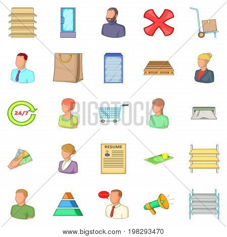 Financial officer icons set. Cartoon set of 25 financial officer vector icons for web isolated on white background