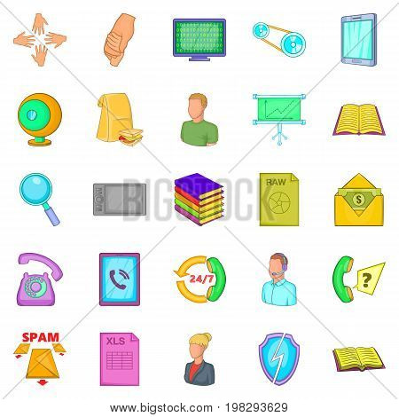 Money order icons set. Cartoon set of 25 money order vector icons for web isolated on white background