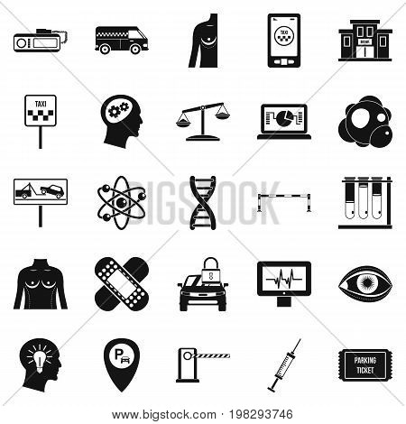 Staff icons set. Simple set of 25 staff vector icons for web isolated on white background