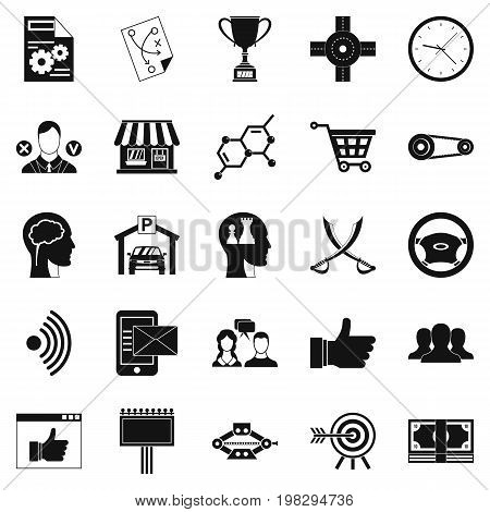 General director icons set. Simple set of 25 general director vector icons for web isolated on white background